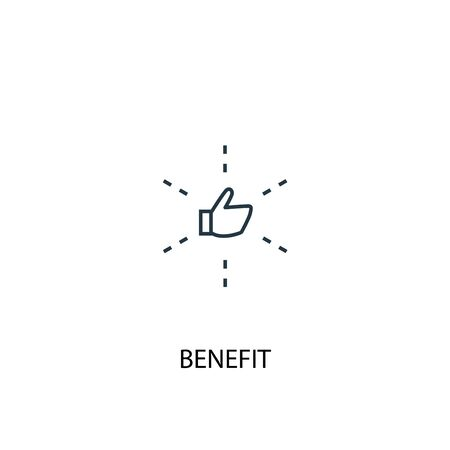 benefit concept line icon. Simple element illustration. benefit concept outline symbol design. Can be used for web and mobile Illustration