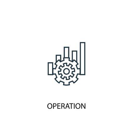 icono de línea de concepto de operación. Ilustración de elemento simple. diseño de símbolo de esquema de concepto de operación. Se puede utilizar para web y móvil.