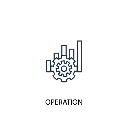 operation concept line icon. Simple element illustration. operation concept outline symbol design. Can be used for web and mobile Ilustracja