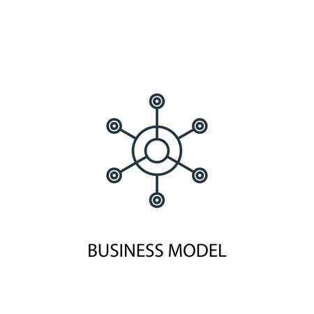 business model concept line icon. Simple element illustration. business model concept outline symbol design. Can be used for web and mobile
