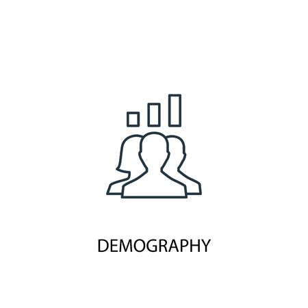 demography concept line icon. Simple element illustration. demography concept outline symbol design. Can be used for web and mobile
