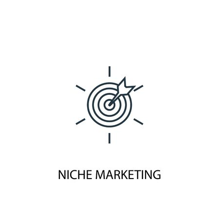 Niche Marketing concept line icon. Simple element illustration. Niche Marketing concept outline symbol design. Can be used for web and mobile