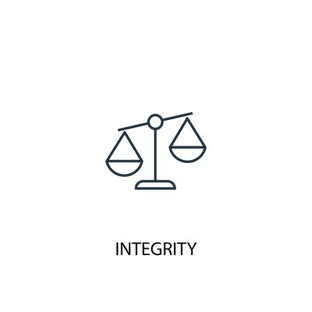 integrity concept line icon. Simple element illustration. integrity concept outline symbol design. Can be used for web and mobile