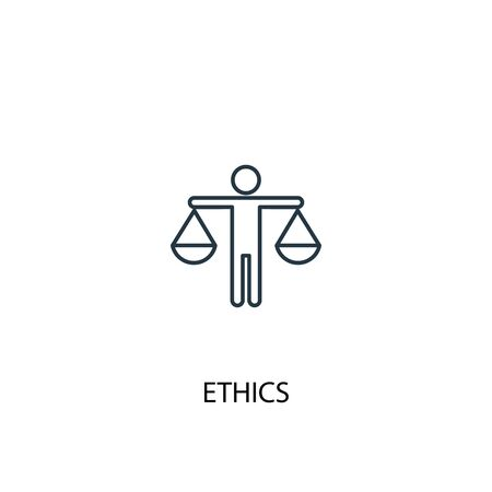 ethics concept line icon. Simple element illustration. ethics concept outline symbol design. Can be used for web and mobile