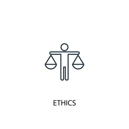 ethics concept line icon. Simple element illustration. ethics concept outline symbol design. Can be used for web and mobile Ilustração Vetorial