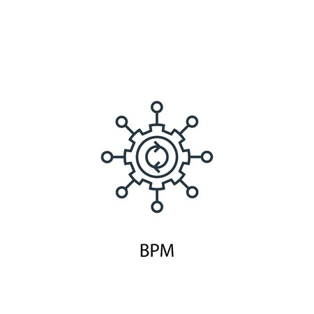 BPM concept line icon. Simple element illustration. BPM concept outline symbol design. Can be used for web and mobile