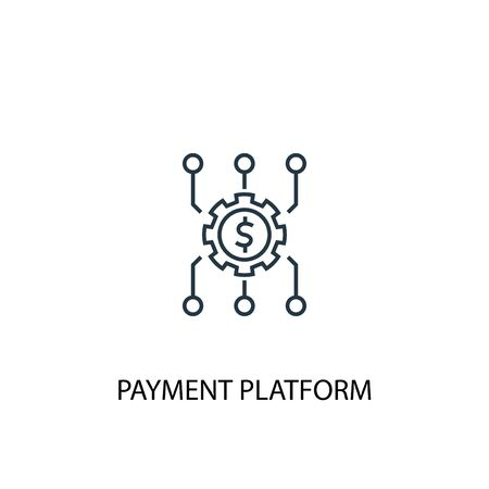 Payment platform concept line icon. Simple element illustration. Payment platform concept outline symbol design. Can be used for web and mobile Illustration