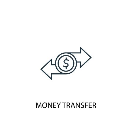money transfer concept line icon. Simple element illustration. money transfer concept outline symbol design. Can be used for web and mobile