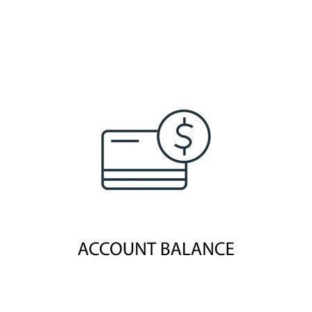 account balance concept line icon. Simple element illustration. account balance concept outline symbol design. Can be used for web and mobile 일러스트