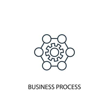 Business process concept line icon. Simple element illustration. Business process concept outline symbol design. Can be used for web and mobile