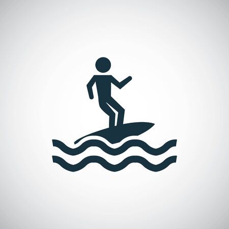 surfer icon trendy simple symbol concept template Ilustração