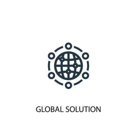global solution icon. Simple element illustration. global solution concept symbol design. Can be used for web Foto de archivo - 130223290