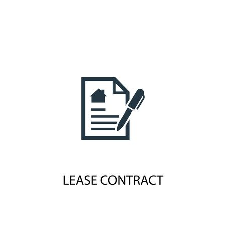 Lease contract icon. Simple element illustration. Lease contract concept symbol design. Can be used for web
