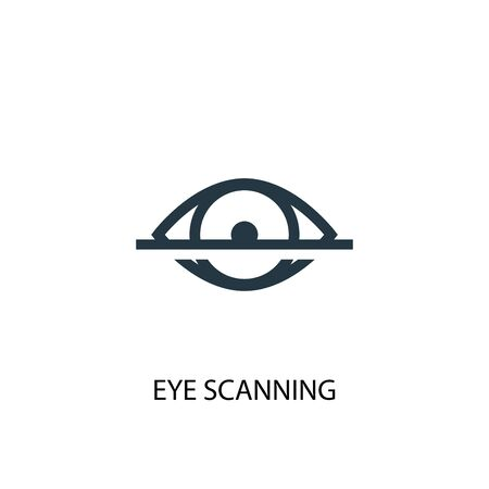 eye scanning icon. Simple element illustration. eye scanning concept symbol design. Can be used for web