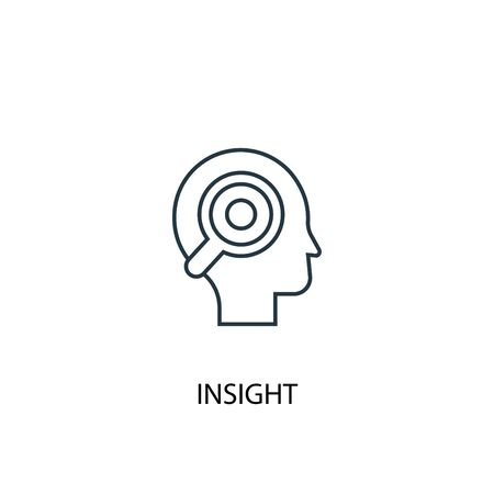 insight concept line icon. Simple element illustration. insight concept outline symbol design. Can be used for web and mobile