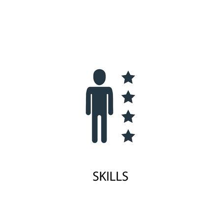 skills icon. Simple element illustration. skills concept symbol design. Can be used for web