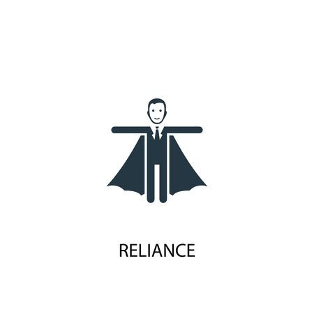 reliance icon. Simple element illustration. reliance concept symbol design. Can be used for web