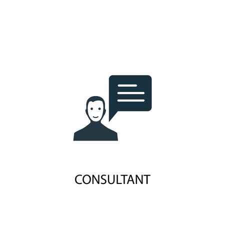 consultant icon. Simple element illustration. consultant concept symbol design. Can be used for web Stock Illustratie