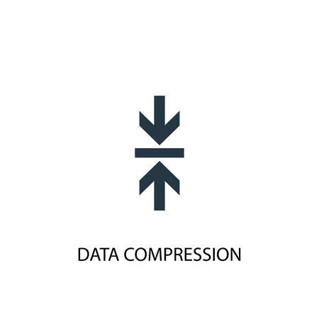 Data Compression icon. Simple element illustration. Data Compression concept symbol design. Can be used for web Illusztráció