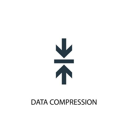 Data Compression icon. Simple element illustration. Data Compression concept symbol design. Can be used for web Illustration