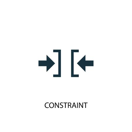constraint icon. Simple element illustration. constraint concept symbol design. Can be used for web
