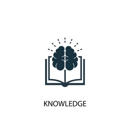 knowledge icon. Simple element illustration. knowledge concept symbol design. Can be used for web Stock Vector - 130223428