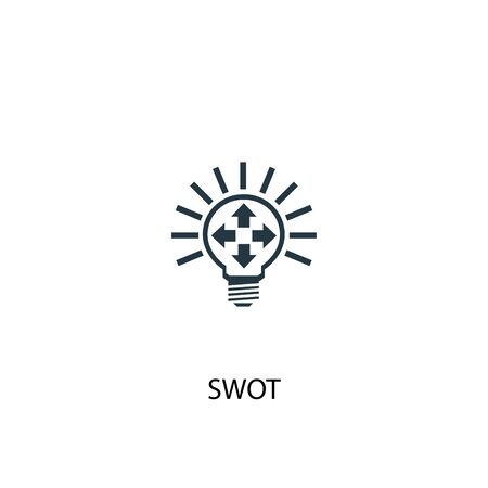 SWOT icon. Simple element illustration. SWOT concept symbol design. Can be used for web 일러스트