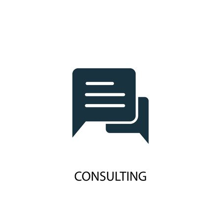 Consulting icon. Simple element illustration. Consulting concept symbol design. Can be used for web