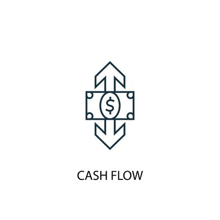 cash flow concept line icon. Simple element illustration. cash flow concept outline symbol design. Can be used for web and mobile
