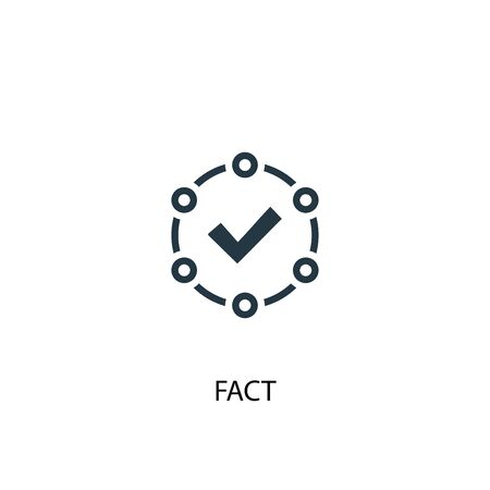 feit icoon. Eenvoudige elementenillustratie. feit concept symbool ontwerp. Kan worden gebruikt voor internet