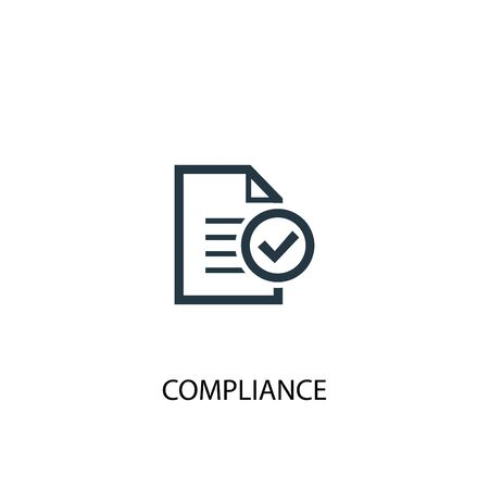 compliance icon. Simple element illustration. compliance concept symbol design. Can be used for web Çizim