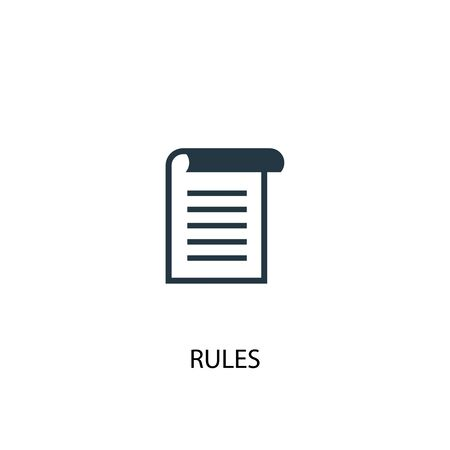 rules icon. Simple element illustration. rules concept symbol design. Can be used for web