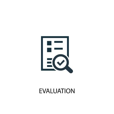 evaluation icon. Simple element illustration. evaluation concept symbol design. Can be used for web