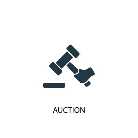 Auction icon. Simple element illustration. Auction concept symbol design. Can be used for web