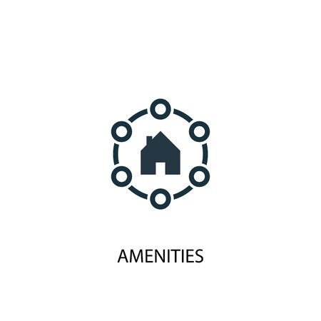 Amenities icon. Simple element illustration. Amenities concept symbol design. Can be used for web Иллюстрация