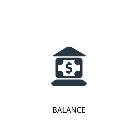balance icon. Simple element illustration. balance concept symbol design. Can be used for web