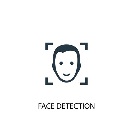face detection icon. Simple element illustration. face detection concept symbol design. Can be used for web  イラスト・ベクター素材