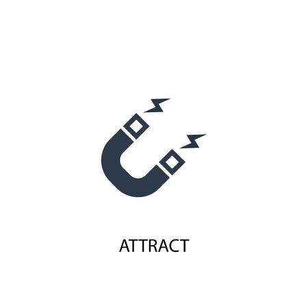 attract icon. Simple element illustration. attract concept symbol design. Can be used for web Stock Illustratie