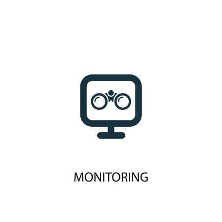 monitoring icon. Simple element illustration. monitoring concept symbol design. Can be used for web