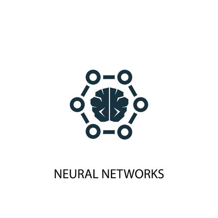 neural networks icon. Simple element illustration. neural networks concept symbol design. Can be used for web