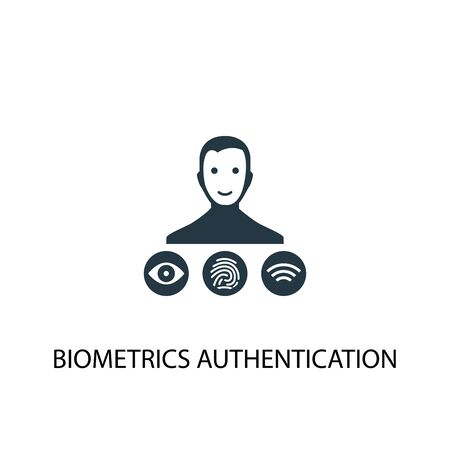 Biometrics authentication icon. Simple element illustration. Biometrics authentication concept symbol design. Can be used for web and mobile.