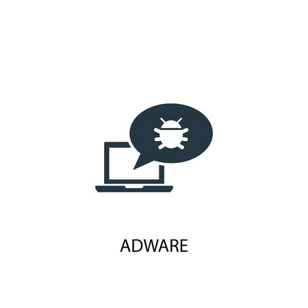 Adware icon. Simple element illustration. Adware concept symbol design. Can be used for web 向量圖像