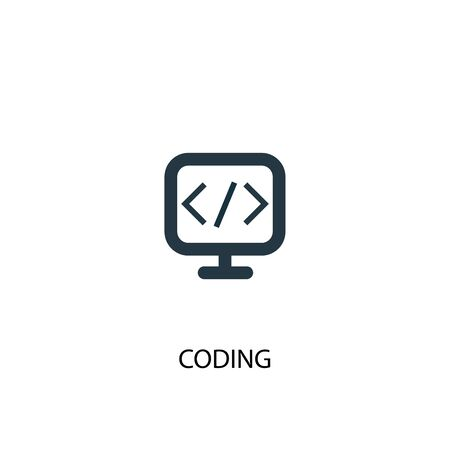 coding icon. Simple element illustration. coding concept symbol design. Can be used for web Illustration