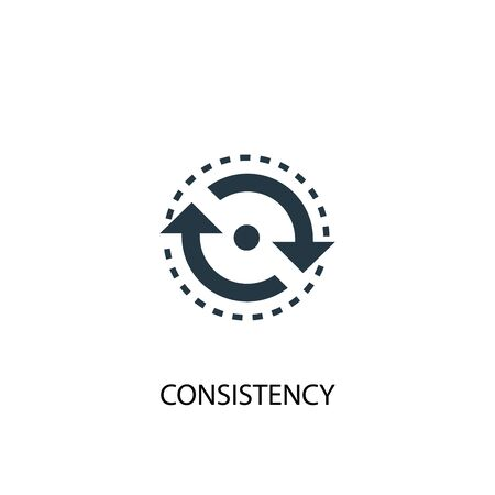 consistency icon. Simple element illustration. consistency concept symbol design. Can be used for web Illusztráció