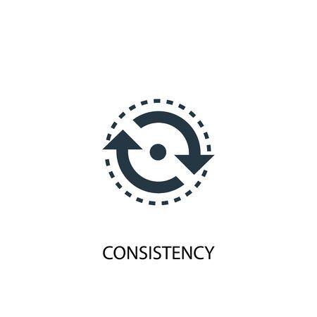 icono de coherencia. Ilustración de elemento simple. diseño de símbolo de concepto de coherencia. Puede usarse para web