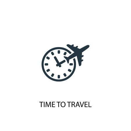 time to travel icon. Simple element illustration. time to travel concept symbol design. Can be used for web