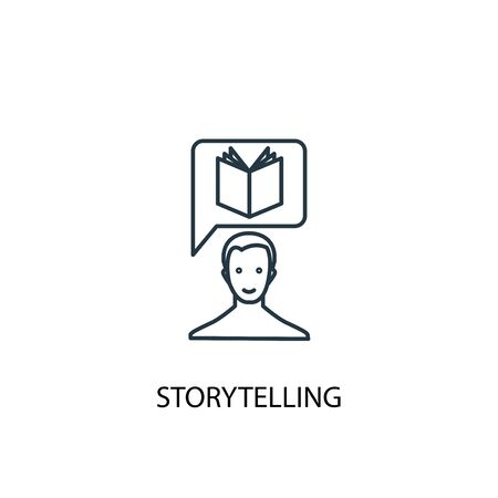storytelling concept line icon. Simple element illustration. storytelling concept outline symbol design. Can be used for web and mobile  イラスト・ベクター素材