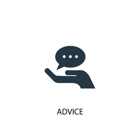 advice icon. Simple element illustration. advice concept symbol design. Can be used for web
