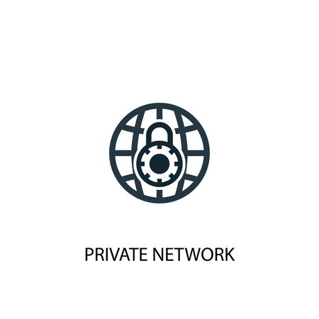private network icon. Simple element illustration. private network concept symbol design. Can be used for web