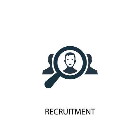 icône de recrutement. Illustration d'élément simple. conception de symbole de concept de recrutement. Peut être utilisé pour le Web Vecteurs